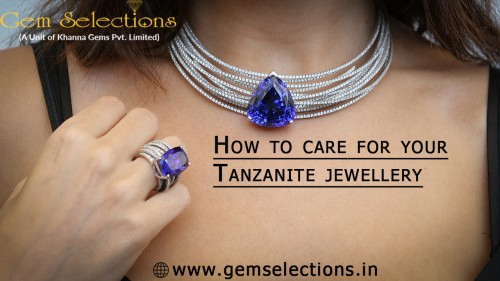 How to care for your tanzanite jewelry