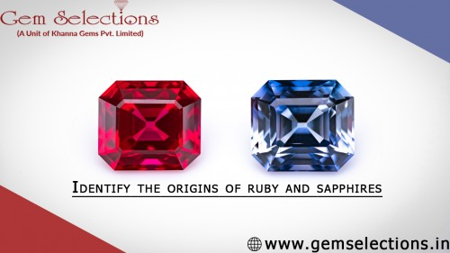 Identify the origins of ruby and sapphires