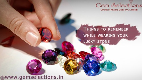 Things to remember while wearing your lucky stone