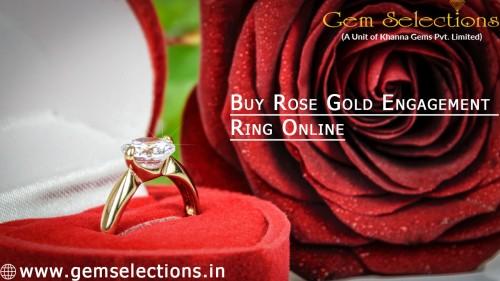 Buy Rose Gold Engagement Ring Online