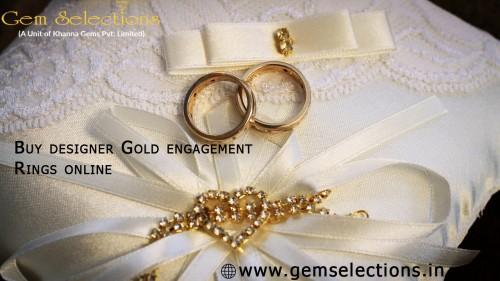 Buy designer Gold engagement Rings online