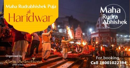 Maha Rudrabhishek Puja at Haridwar Ghat by Gem Selections