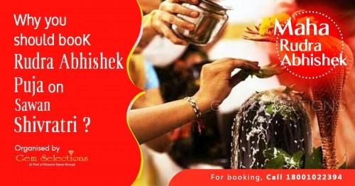 Book Online Rudrabhishek Puja by Gem Selections
